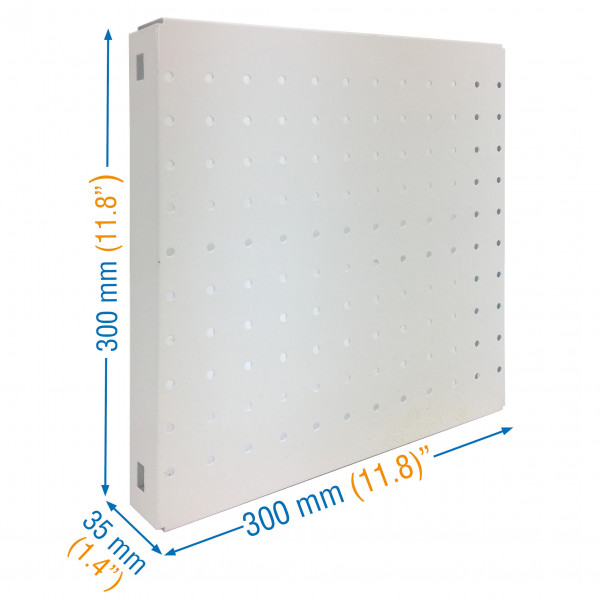 PANEL, SIMONBOARD PERFORATED 300x300 BLANCO