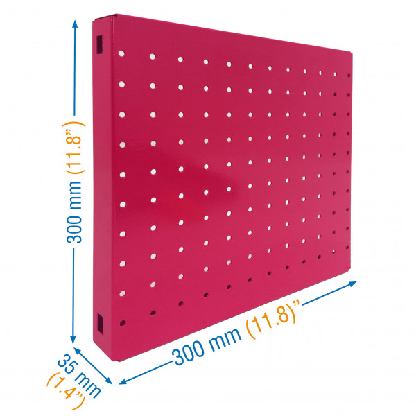 PANEL, SIMONBOARD PERFORATED 300x300 ROSA