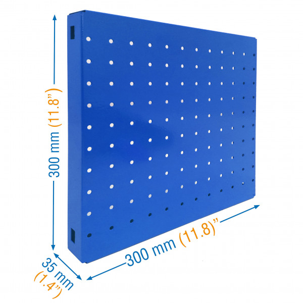 PANEL, SIMONBOARD PERFORATED 300x300 AZUL