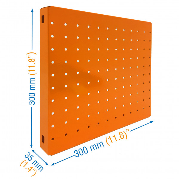 PANEL, SIMONBOARD PERFORATED 300x300 NARANJA