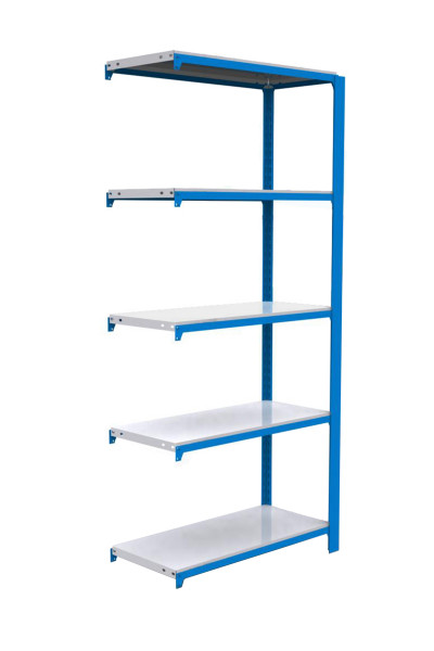 ESTANTERIA,2000x900x300 OFFICLICK 5/300 METAL A.M. AZUL/BLANCO