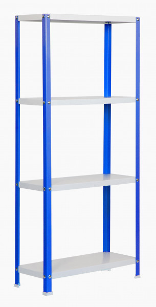 ESTANTERIA,1600x800X400 HOMECLASSIC COLOR MINI 4/400 AZUL/BLANCO