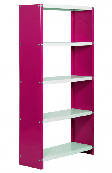 ESTANTERIA,1600X600X300 HABITAT COLOR MINI 5/300 ROSA/BLANCO