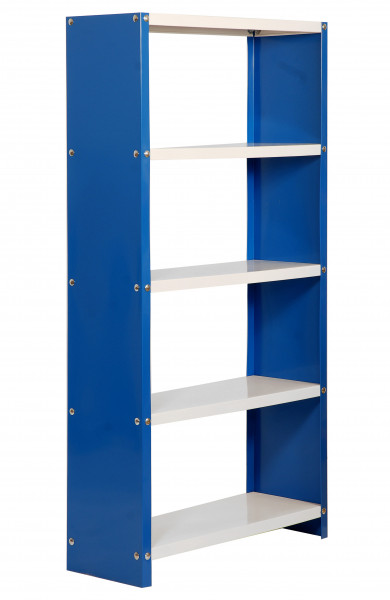 ESTANTERIA,1600x800X300 HABITAT COLOR PLUS 5/300 AZUL/BLANCO