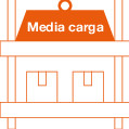 Estantería Media Carga (hasta 700 Kg/Estante)